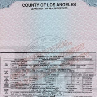 Paris Jackson Birth Certificate