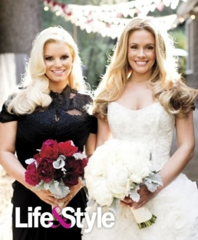 Cacee Cobb Married, Jessica Simpson Pregnant in Cute Wedding Day ...