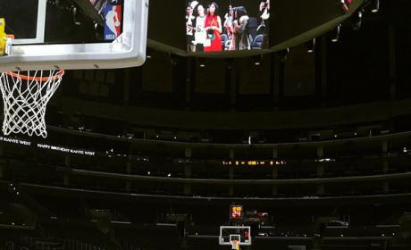 Kanye in Staples Center
