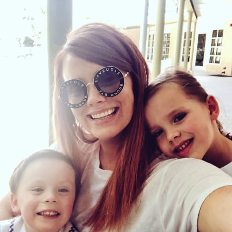 Kathryn Dennis with Kensie and Saint