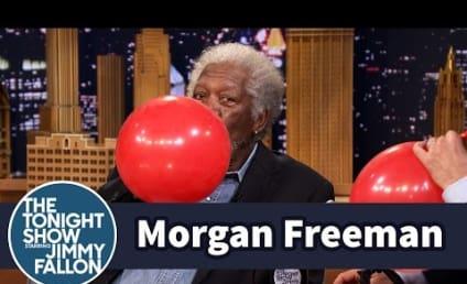 Morgan Freeman Sucks Down Helium on The Tonight Show, Talks Beekeeping