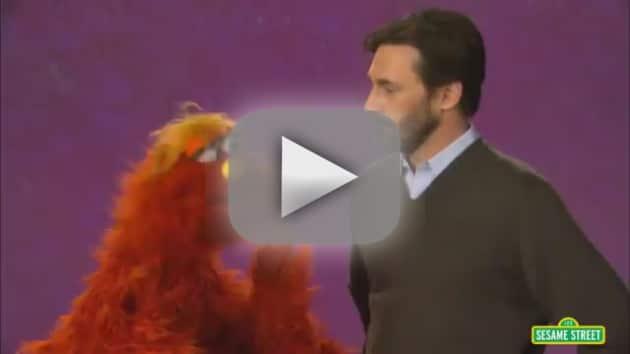 Jon Hamm on Sesame Street