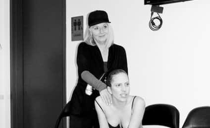 Lady Gaga: Topless, Backstage at VMAs!