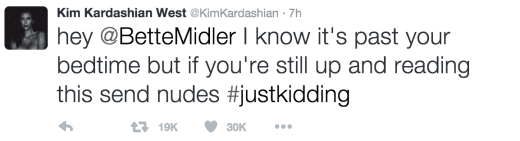 Kim Kardashian Slams Bette Midler on Twitter