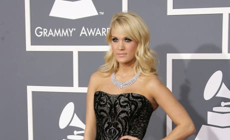 Carrie Underwood. at 2013 Grammys