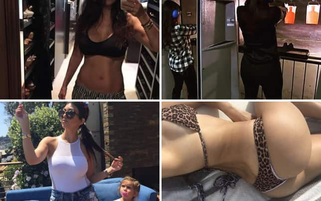 Kourtney kardashian abs photo