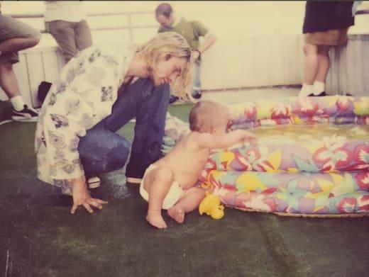 Kurt Cobain, Frances Bean Photo