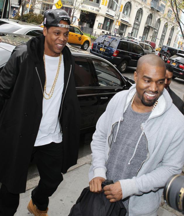Jay Z and Kanye West Photo