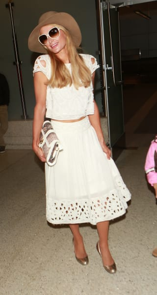 Paris Hilton Hams It Up at LAX