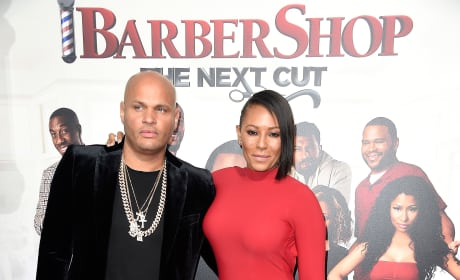 Stephen Belafonte and Melanie Brown in 2016