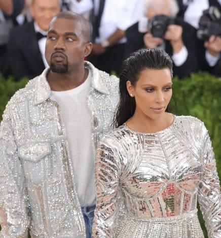 Kim Kardashian and Kanye West Snapsho