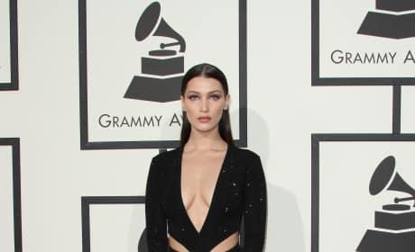 Bella Hadid at 2016 Grammys