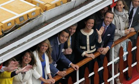 Pippa Middleton Charlie Gilkes Diamond Jubilee River Pageant Pic