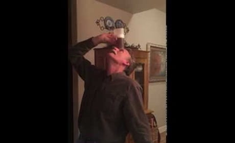 Coolest Grandfather in History Drinks Beer with No Hands