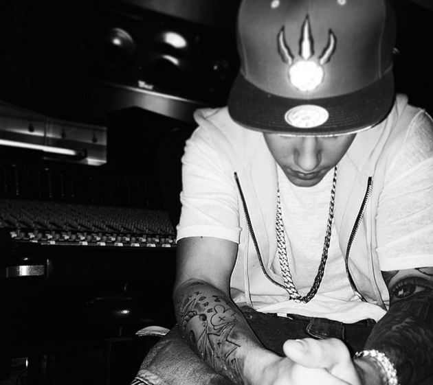 Justin Bieber Goes Black and White