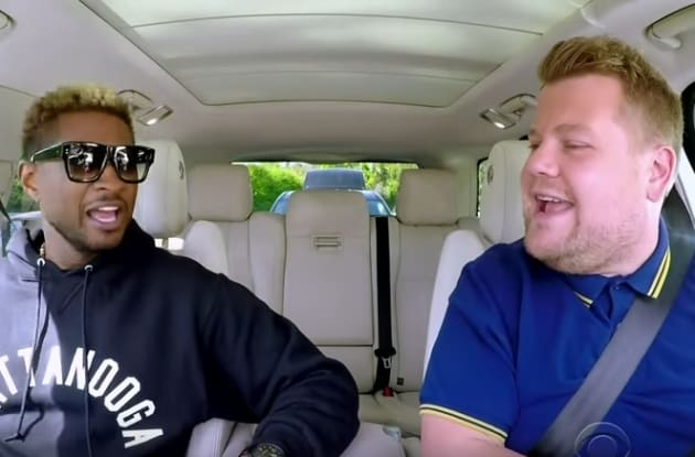 James Corden and Usher