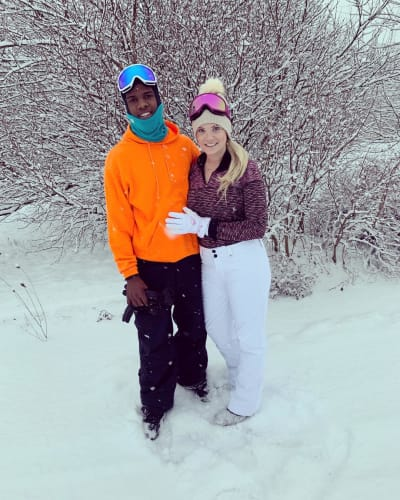 Jay Smith and Ashley Martson in the Snow
