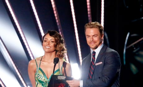 Kat Graham and Derek Hough Present at the 2016 iHeartRadio Music Awards