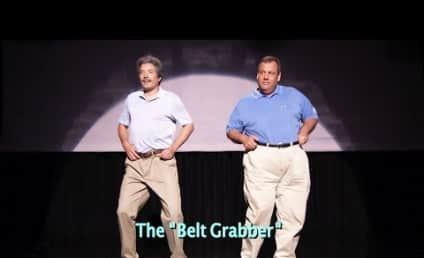 Chris Christie Helps Jimmy Fallon Explain The Evolution of Dad Dancing