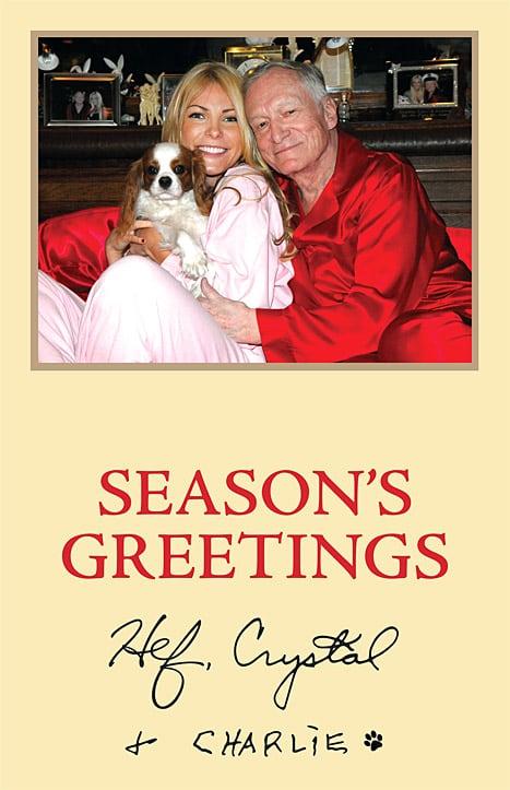 Crystal Harris and Hugh Hefner Christmas Card