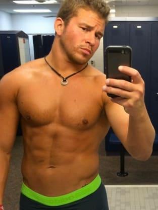 Nathan Grifith Shirtless Selfie