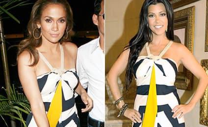 Fashion Face-Off: Jennifer Lopez vs. Kourtney Kardashian