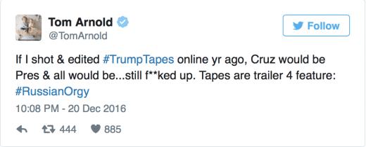 Tom Arnold Tweet