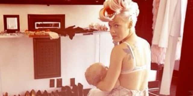 Pink Breastfeeding Photo