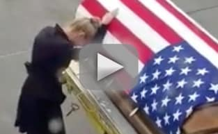 Army Widow Breaks Down Over Casket: Watch the Heartbreak