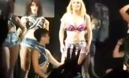 Lady Gaga Attends Britney Spears Concert, Crowd Goes Berzerk