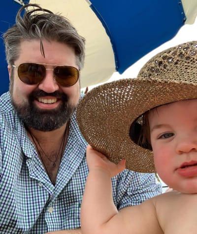 Andrew Glennon with Son on Instagram