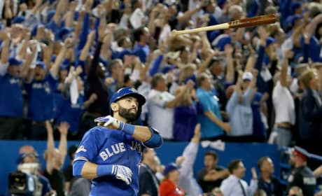 Joey Bautista Wins ALDS for Blue Jays, Celebrates with Greatest Bat Flip in History