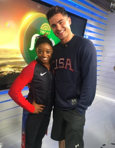 Zac Efron and Simone Biles Photo