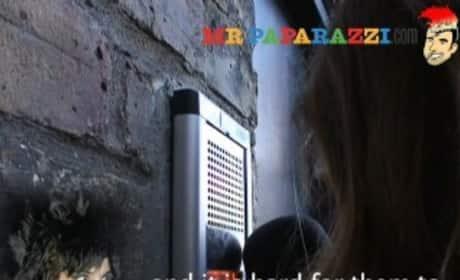 Amy Winehouse Speaks Through Intercom
