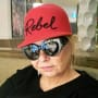 Roseanne Barr Wears a Red Hat