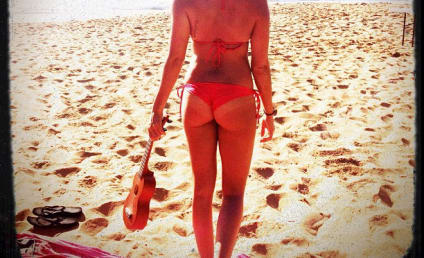 Ashley Tisdale: Beautiful Beach Day, Buttocks