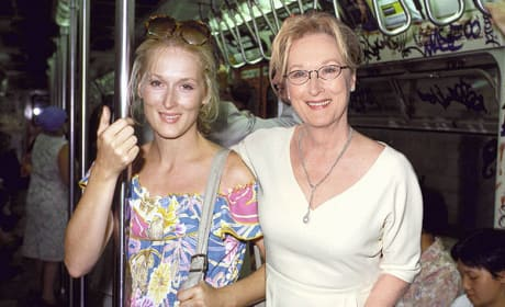 Meryl Streep in 1980 and 2013