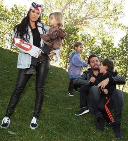Kourtney Kardashian and Scott Disick and Family
