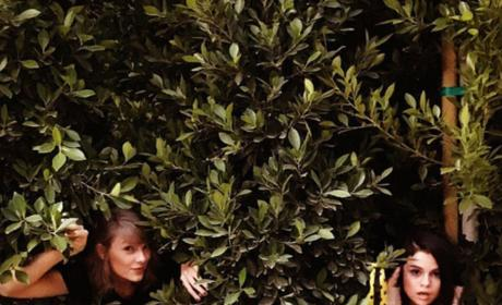 Taylor Swift and Selena Gomez in the Woods