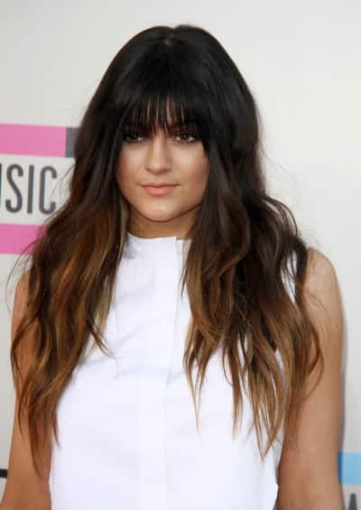 Kylie Jenner Bangs Pic