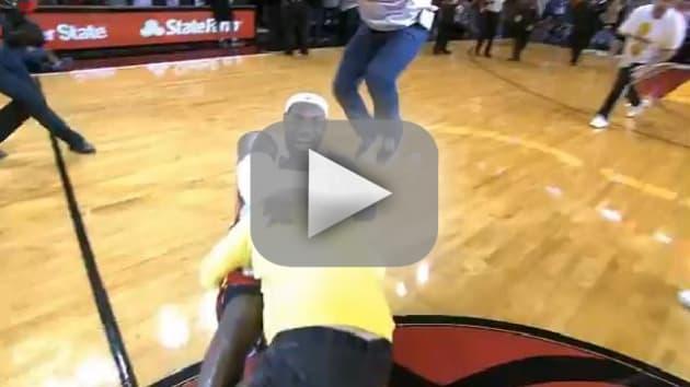 LeBron James Hugs Fan