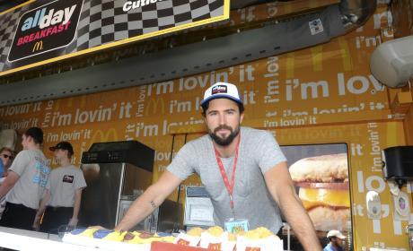 Brody Jenner Serves McDonald's During Daytona 500