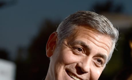 George Clooney Smiles!
