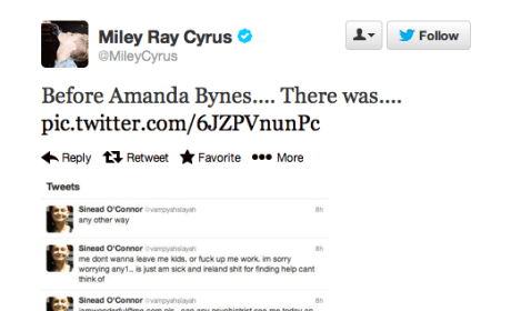 Miley Cyrus - Sinead O'Connor Twitter War