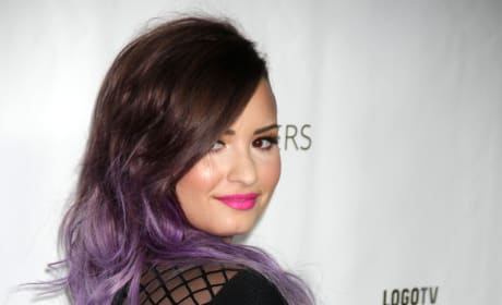 Demi with Purple Hair