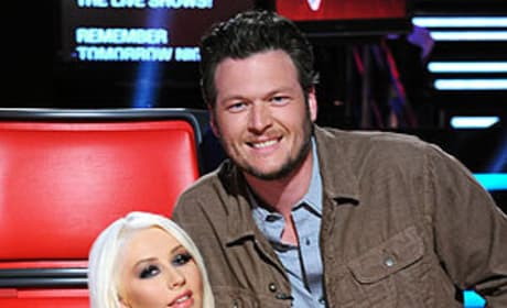 Blake Shelton and Christina Aguilera