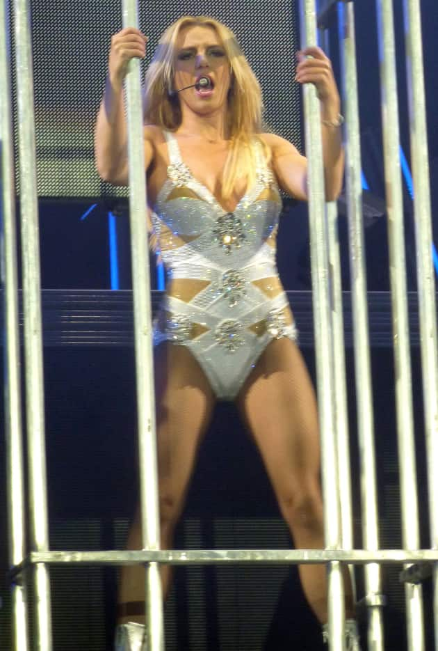 Britney Spears Caged in Concert
