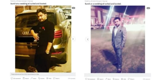 Sumit Singh dressed up on Reddit (2016 photos)