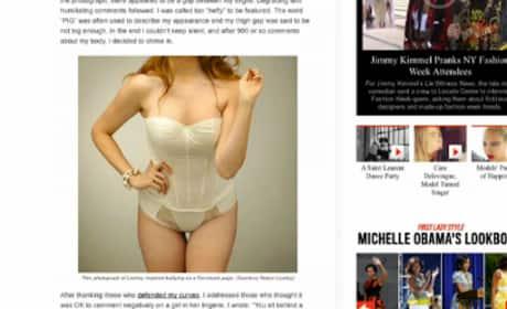 Robyn Lawley on Thigh Gaps