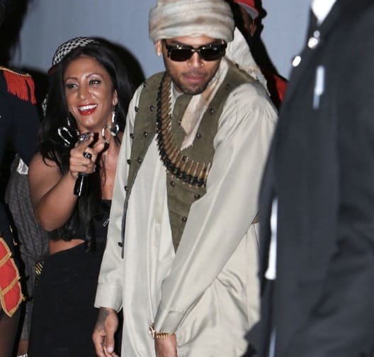 Chris Brown as a Terrorist